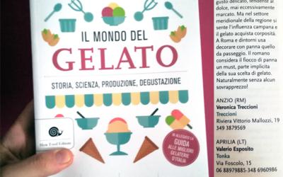 """Lolla gelato citata su """"Il Mondo del Gelato"""" di Roberto Lobrano"""